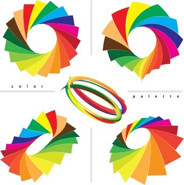 decorative circles templates colorful 3d decor