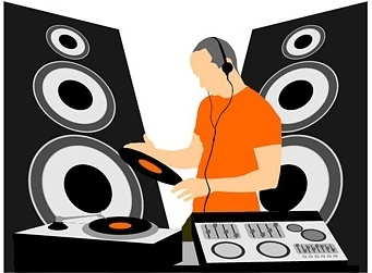 dj equipment and dj music vector