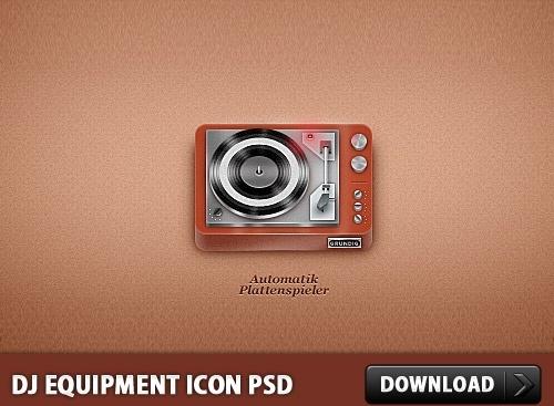 DJ Equipment Icon PSD