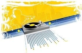 dj musical elements vector