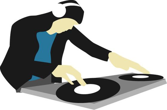 dj spinning decks