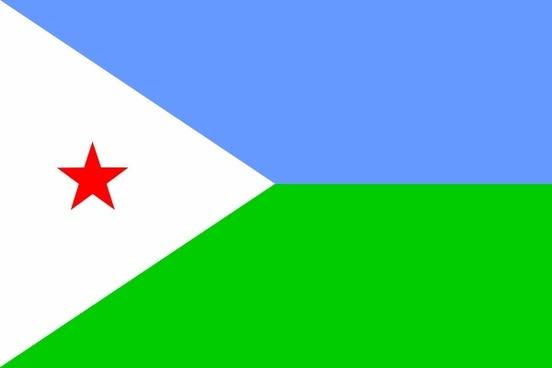 Djibouti Flag clip art