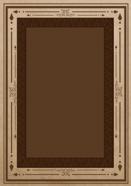 document border design brown arrows classical style
