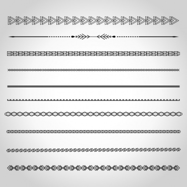 document border design elements various seamless shapes decoration