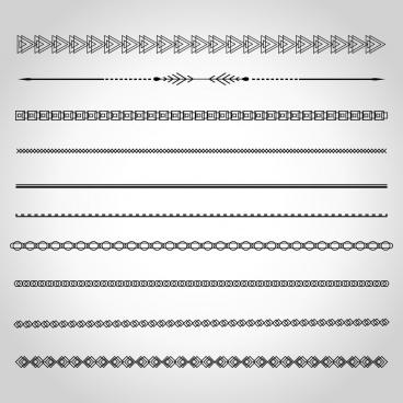 document border design elements various seamless shapes decoration