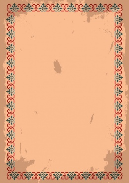 document border design red green classical repeating pattern