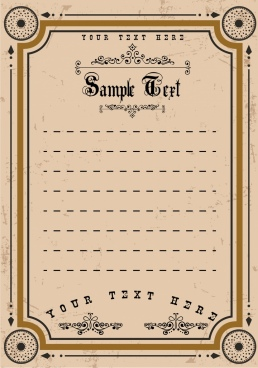 document border template arrows circles decoration classical style