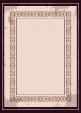 document border template classical squares repeating symmetric design