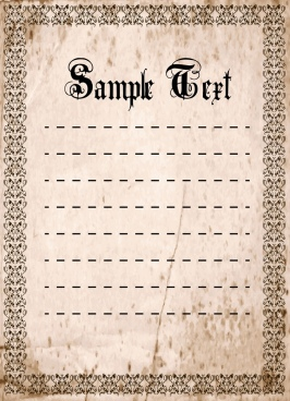 document border template grunge vintage seamless design
