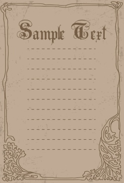 document border template handdrawn pattern retro style