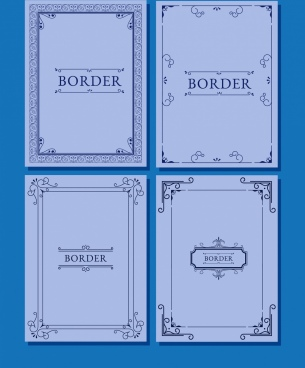 document border templates classical symmetric design