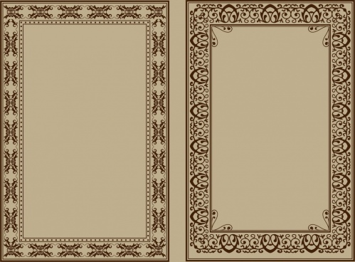 document borders sets classical repeating seamless design