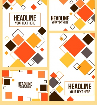 document cover background modern multicolored squares decor