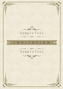 document cover template classical elegant decoration