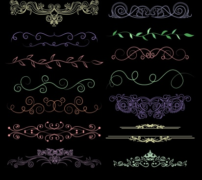 document decor design elements classical symmetric curves