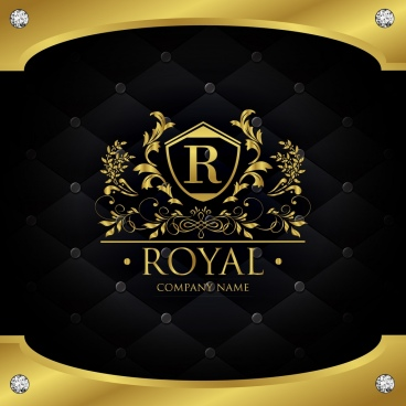 document decoration template luxury royal style golden decor