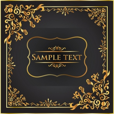 document decorative background luxury royal style golden decor
