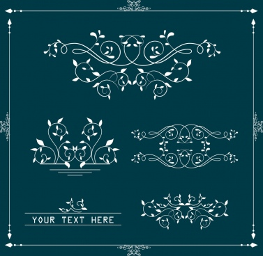 document decorative design elements classical curves