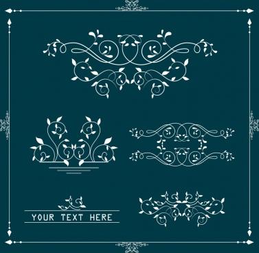 document decorative design elements classical curves