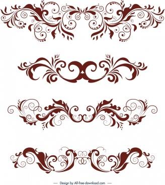 document decorative design elements classical symmetrical swirled decor