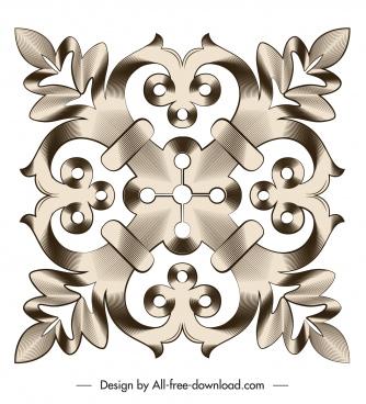 document decorative element elegant symmetrical flat shape