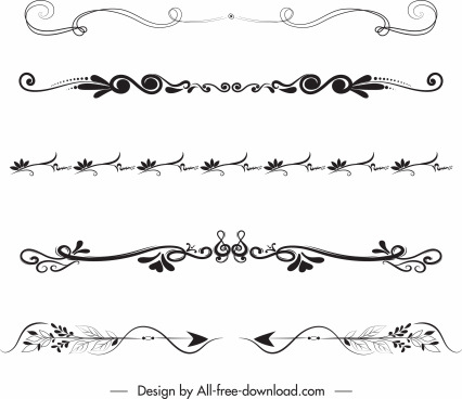 document decorative elements classical symmetric repeating curves decor