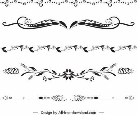 document decorative elements classical symmetrical curves decor