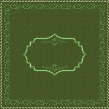 document decorative template classical green design