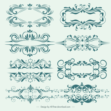 document decorative templates elegant classical symmetric decor