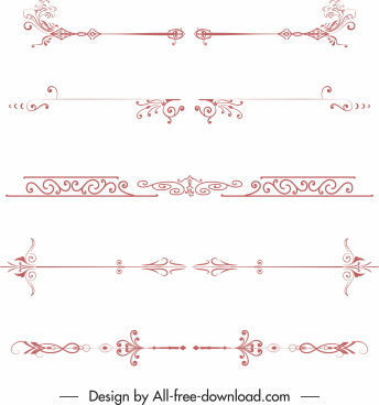document decorative templates elegant classical symmetric shapes