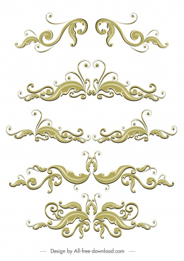 document decorative templates elegant classical symmetric swirled design