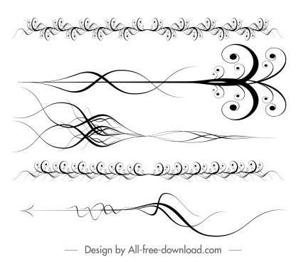 document decorative templates elegant dynamic swirled symmetric decor