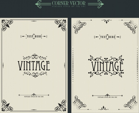 document decorative templates vintage corner decor