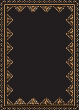 documents border template elegant repeating ethnic decor