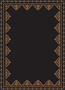 documents border template elegant repeating ethnic decor