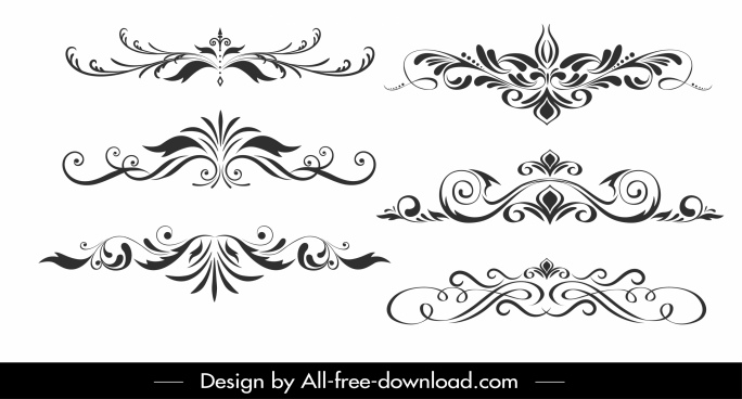 documents decorative templates classical symmetric curves