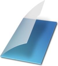 Documents vide bleu