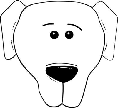 Dog Face Cartoon World Label clip art