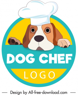 dog logo template funny style decor