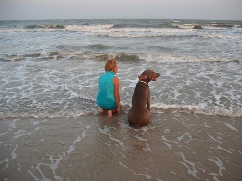 dog woman friendship
