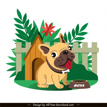 doggy painting cute cartoon sketch