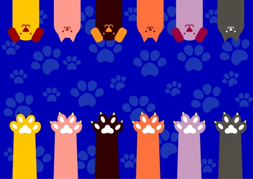 dogs background heads foots icons repeating style backdrop