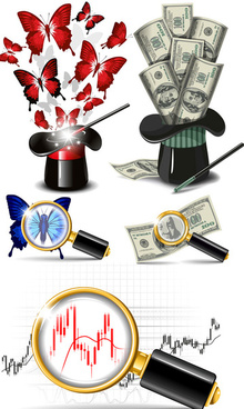 dollar advertising elements vector art
