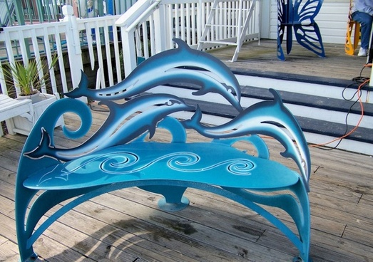 dolphin bench