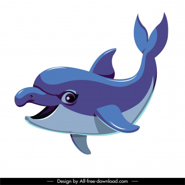 dolphin icon cute cartoon character sketch