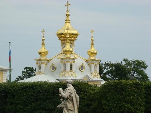 dome gold white
