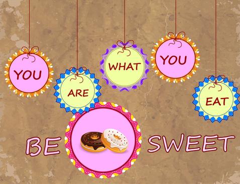 donut cake sweet background