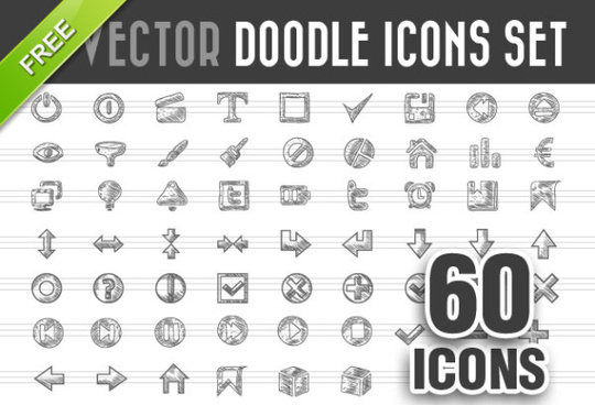 doodle icons kind