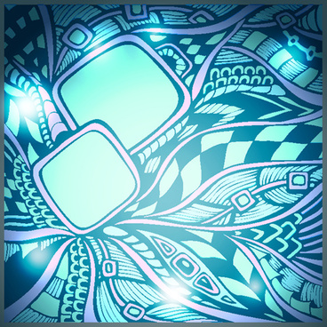 doodle pattern abstract art background vector