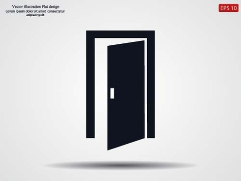 door black icon vector